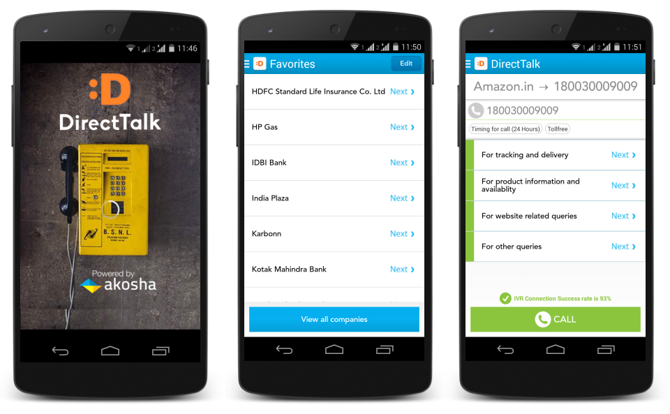 DirectTalk By Akosha Android App Screenshot