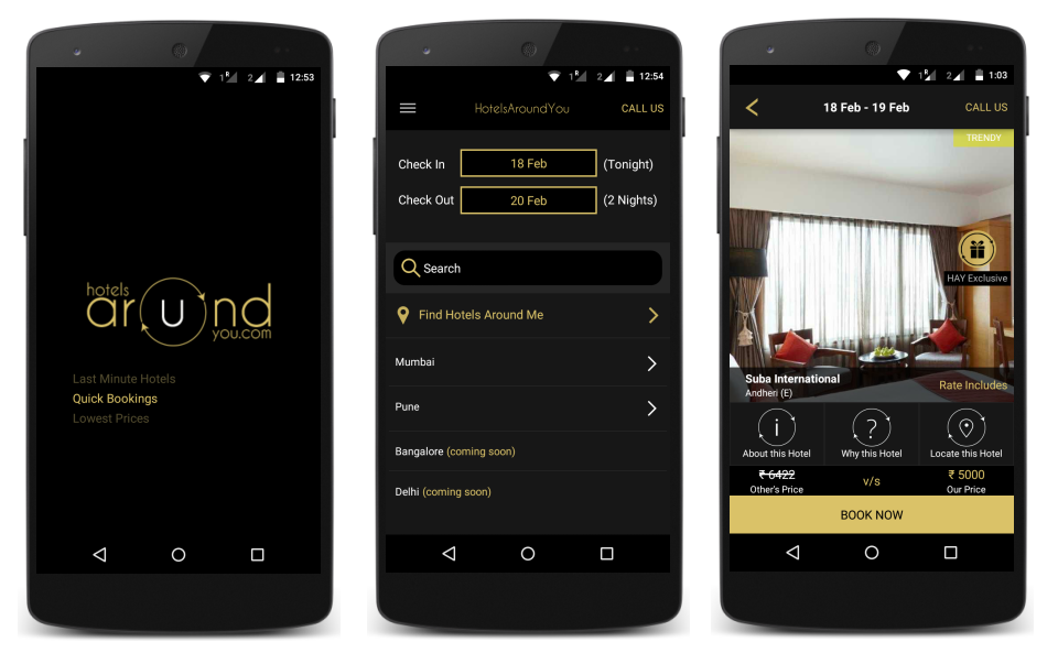 Hotels Around You Android App Screenshot
